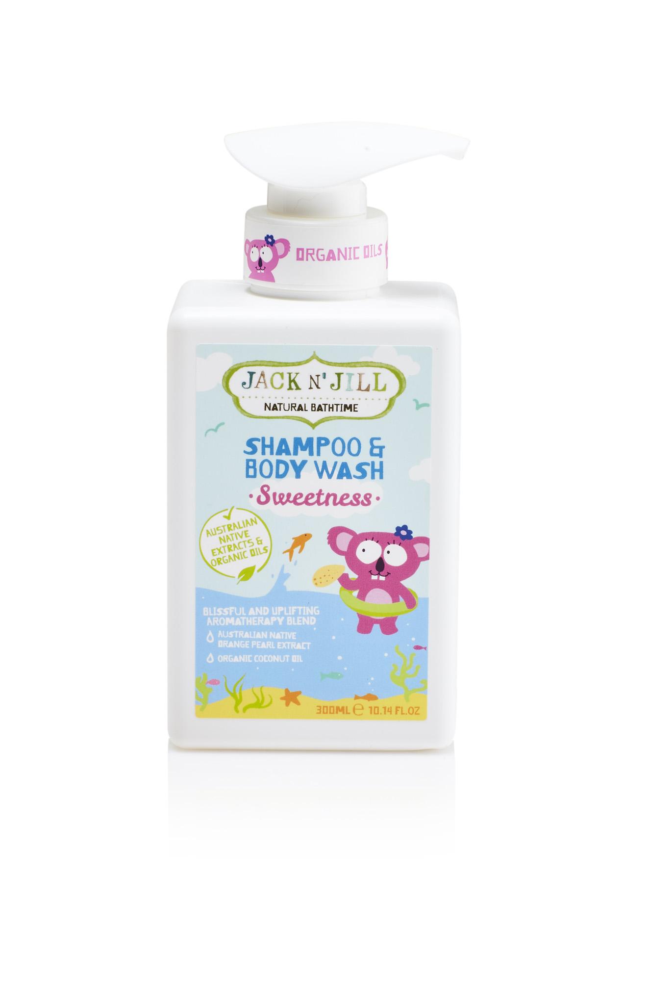 Jack N´ Jill NATURAL BATHTIME Sprchový gel a šampon, Sweetness