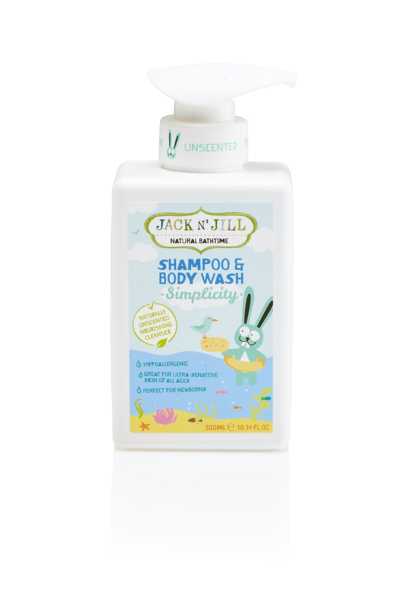 Jack N´ Jill NATURAL BATHTIME Sprchový gel a šampon, Simplicity